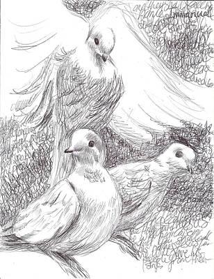 Drawing - Matthew 1v18 by Nicola Jeanette Cochran