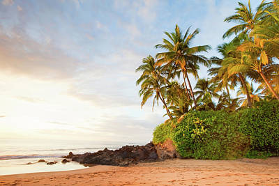 Sunset Photograph - Maui Beach Sunset by M.m. Sweet
