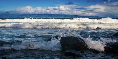 Photograph - Maui Breakers Pano by Jeff Phillippi