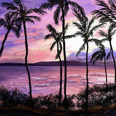 Digital Art - Maui Palms by Susan Kinney