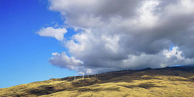 Photograph - Maui Windmills by Dave Matchett