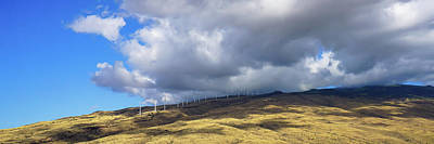 Photograph - Maui Windmills Wide by Dave Matchett