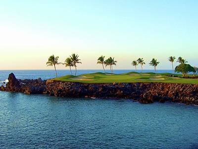 Recently Sold - Sports Royalty-Free and Rights-Managed Images - Mauna Lani Golf Resort - South - Hole #15 by Scott Carda