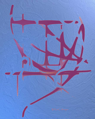 Digital Art - Mauve On Blue Texture by Kae Cheatham