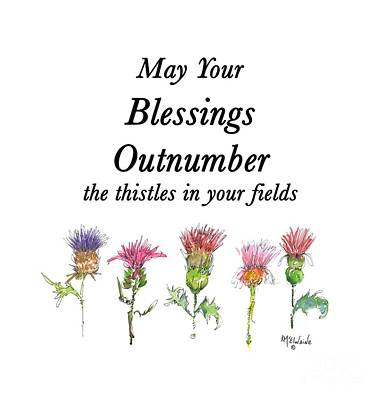 Painting - May Your Blessings By Kmcelwaine De011 by Kathleen McElwaine
