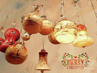 Mixed Media - May Your Christmas Be Bright by Eva Lechner