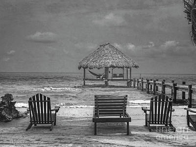 Impressionist Landscapes - Maya Beach BW Placentia Belize by David Zanzinger