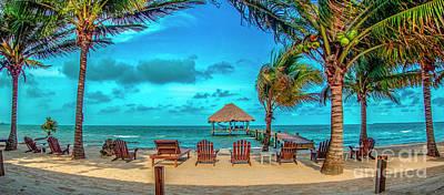 Antlers - Placentia Maya Bistro Beach Belize C.A. by David Zanzinger