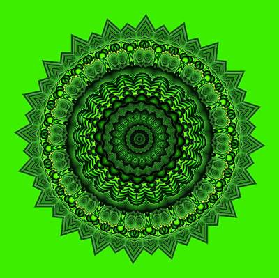 Digital Art - Mayan Coutyard 33 Lime by Doug Morgan