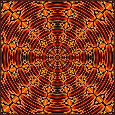 Digital Art - Mayan Sun God Tile K12 K12-3  by Doug Morgan