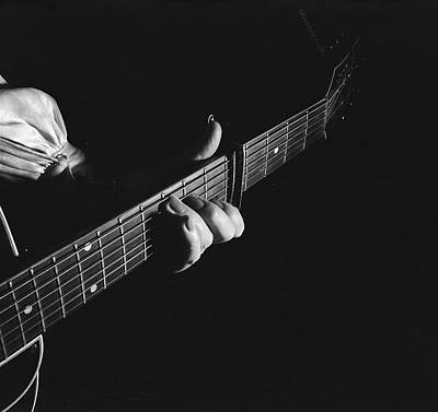 Photograph - Maybelle Carter Plays The Guitar by Eric Schaal