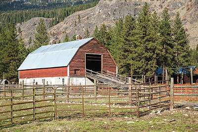 Photograph - Mazama Horse Barn And Corrals by Tom Cochran
