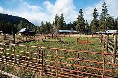 Photograph - Mazama Horse Corrals by Tom Cochran