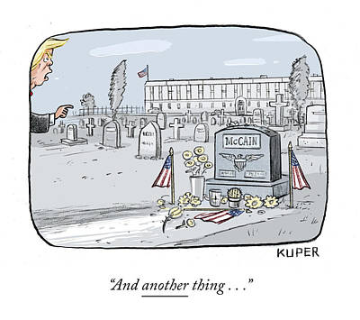 Drawing - Mccain Grave by Peter Kuper