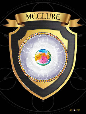 Mixed Media - Mcclure Family Crest by Ahonu