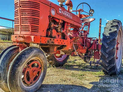 Photograph - Mccormick Farmall by Tony Baca