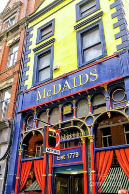 Photograph - Mcdaids Irish Pub Dublin by John Rizzuto