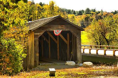 Photograph - Mcdermott Covered Bridge by Adam Jewell