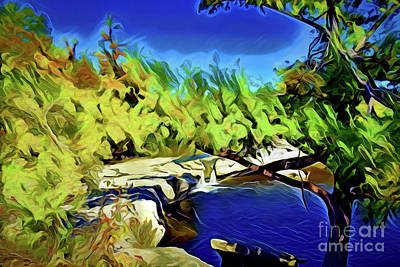 Painting - Mckinney Falls State Park A18-172 by Ray Shrewsberry