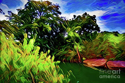 Painting - Mckinney Falls State Park A18-173 by Ray Shrewsberry