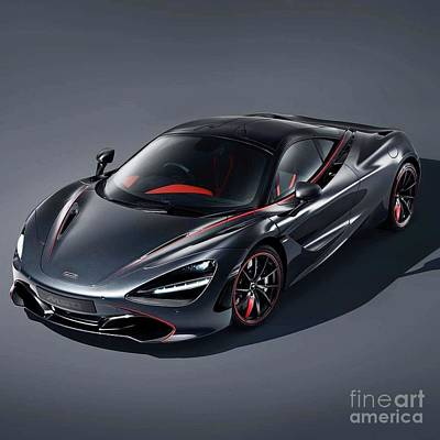Featured Tapestry Designs - McLaren 720S Stealth  by EliteBrands Co