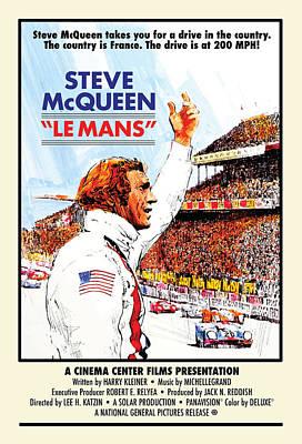 Digital Art - Mcqueen Le Mans by Gary Grayson