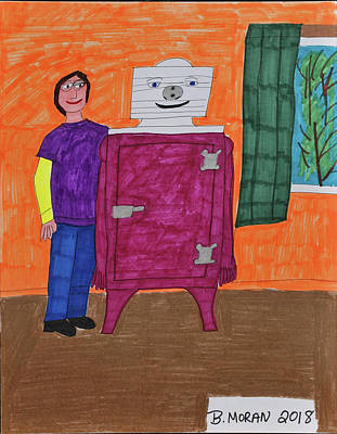 Drawing - Me And Rooney by Barb Moran
