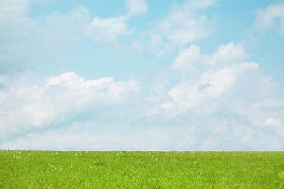 Scenery Photograph - Meadow And Blue Sky by Ultra.f