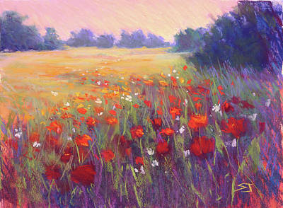 Pastel - Meadow Dreaming by Susan Jenkins