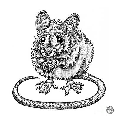 Drawing - Meadow Jumping Mouse by Amy E Fraser