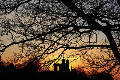 Photograph - Mean Time Sunset At Greenwich Park by Aidan Moran