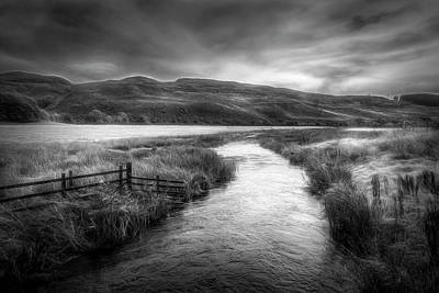 Photograph - Meandering Through Scotland Black And White by Debra and Dave Vanderlaan