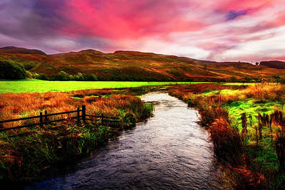 Photograph - Meandering Through Scotland Evening Light by Debra and Dave Vanderlaan