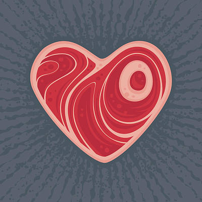 Royalty-Free and Rights-Managed Images - Meat Heart by John Schwegel