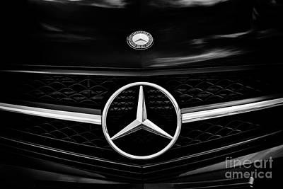 Photograph - Mecedes Benz Monochrome by Tim Gainey