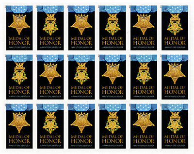 Photograph - Medal Of Honor - Stamps by Paul W Faust - Impressions of Light