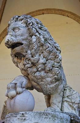 Photograph - Medici Lions  by JAMART Photography