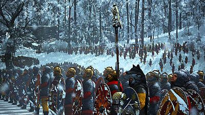 Painting - Medieval Army In Battle - 27 by Andrea Mazzocchetti
