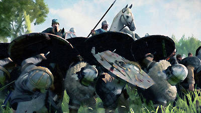 Painting - Medieval Army In Battle - 31 by Andrea Mazzocchetti