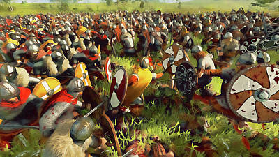 Painting - Medieval Army In Battle - 32 by Andrea Mazzocchetti