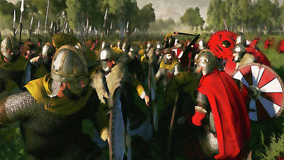 Painting - Medieval Army In Battle - 34 by Andrea Mazzocchetti