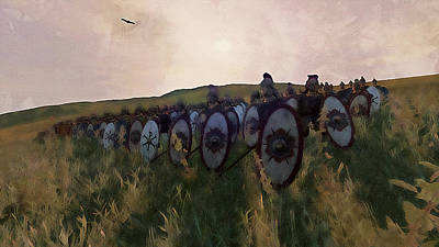Painting - Medieval Army In Battle - 40 by Andrea Mazzocchetti