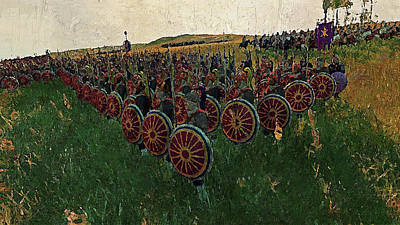 Painting - Medieval Army In Battle - 43 by Andrea Mazzocchetti