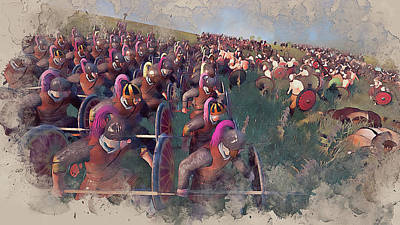 Painting - Medieval Army In Battle - 44 by Andrea Mazzocchetti