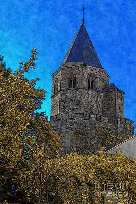 Digital Art - Medieval Bell Tower 3 by Jean Bernard Roussilhe