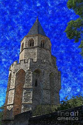 Digital Art - Medieval Bell Tower 4 by Jean Bernard Roussilhe