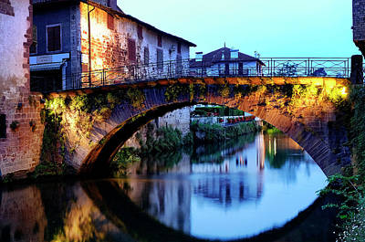 Photograph - Medieval Bridge In Saint-jean-pied-de-port by Fabrizio Troiani