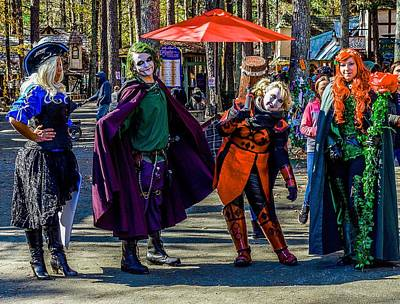 Photograph - Medieval Comic Book Villains by Rodney Lee Williams