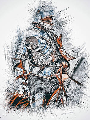 Painting - Medieval Knight - 07 by Andrea Mazzocchetti