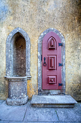 Photograph - Medieval Red Door by David Letts